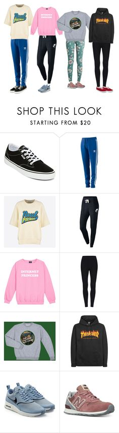 """""""Sweater Weather Squad"""" by owlenstar on Polyvore featuring Vans, adidas, NIKE, New Balance and Keds"""