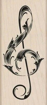 Ideas For Music Tattoo Vintage Treble Clef Music Drawings, Music Artwork, Music Tattoo Designs, Music Tattoos, Fake Piercing, Piercings, Free Printable Sticker, Lena Tattoo, Osiris Tattoo