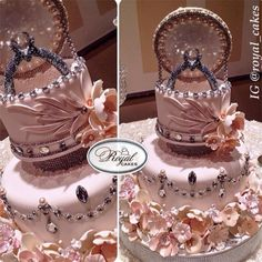 Get creative with your engagement cake! Engagement Ring Box Cake by Royal Cakes.