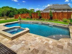Riverbend Sandler Pools offers Geometric Pool Designs Dallas, Frisco and surrounding areas that homeowners can be proud of. Pool Gazebo, Backyard Pool Landscaping, Backyard Pool Designs, Small Backyard Pools, Swimming Pools Backyard, Swimming Pool Designs, Backyard Ideas, Garden Ideas, Contemporary Garden
