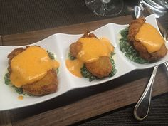 Mark Arnao, Executive Chef at The Ritz-Carlton New York, Central Park suggests adding smoked gouda to the cheese for more flavors to our crispy oysters and creamed spinach appetizer.