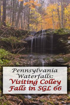 Hidden waterfalls. This is Colley Falls in Sullivan County, Pennsylvania's State Game Lands 66.