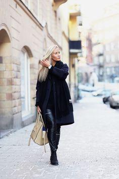 Jacket Gina Tricot / Pants Zara / Shirt H&M / Scarf Acne / Shoes Gant / Bag Celine | Natalia Oona