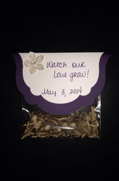 Flower Seed Wedding Favors Wedding Favors by CraftyMarketplace, $12.00