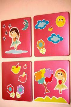 ideacentrífuga: Decoramos tu vida Cuadros decorativos para recámara de niña, con hadas y bailarinas diseño exclusivo by centrífuga