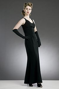 1950s Girl wearing retro style gown
