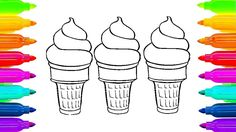 Ice Cream Coloring Pages for Kids