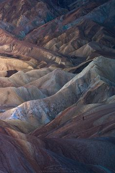 Z is for Zabriskie - Zabriskie point. The crown jewel for photographers in Death Valley. Photography by Greg Boratyn