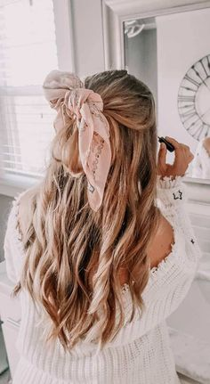 Hairstyles For Kids Best Ponytail Hairstyles (fast and easy) - Inspired Beauty.Hairstyles For Kids Best Ponytail Hairstyles (fast and easy) - Inspired Beauty Fast Hairstyles, Ponytail Hairstyles, Ribbon Hairstyle, Hairdos, Summer Hairstyles, Hairstyles Tumblr, Easy Pretty Hairstyles, Korean Hairstyles, Vintage Hair