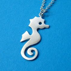 Seahorse Necklace Sterling Silver  Pendant Jewelry  Gift women girl teen kid bf sister mom  for her spring