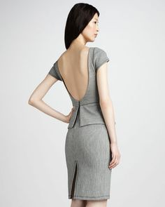 Two piece / Back / Slit / Asian