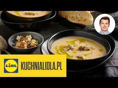 Krem Z KALAFIORA (z twarogiem i oliwą!) 🥣 | Karol Okrasa & Kuchnia Lidla - YouTube Lidl, Drinking, Cheese, Eat, Cooking, Breakfast, Amazing, Ethnic Recipes, Youtube