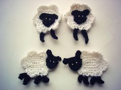 Crochet sheep applique pdf pattern. $3.50, via Etsy.