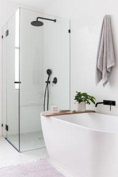 Nothing beats a clean, simple bathroom design. Nothing beats a clean, simple bathroom design. Simple Bathroom Designs, Modern Bathroom Design, Bathroom Interior Design, Modern Interior, Bath Design, Interior Design Simple, Modern Decor, Brown Interior, Minimal Decor