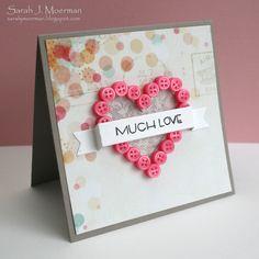 button heart  card Sarah Moerman