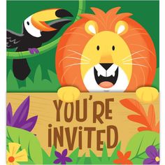 Check out the deal on Jungle Safari Gatefold Invitations at Party at Lewis. #junglepartyideas #jungleparties #junglepartythemes #junglebirthdays #junglesafariparty #junglethemepartyideas #junglethemebirthdayparty #junglethemeparties #safarijungleparty #junglebirthdaypartyideas #junglebirthdayparties #junglepartydecorations #junglebirthdaytheme #safariparty #junglesafaribirthdayparty #junglekidsparty #partyjungletheme #junglethemebirthday #babyshower  #1stbirthday #props #themepartyideas
