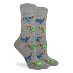 Take a look at this Good Luck Sock Gray Wiener Dog Crew Socks today! Dachshund Gifts, Dachshund Puppies, Dachshund Love, Dog Gifts, Wiener Dogs, Daschund, Dachshund Quotes, Book Socks, Women's Socks