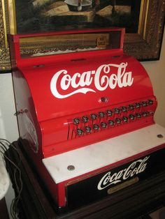 ANTIQUE National Cash Register, 1924-1925, Coca Cola Themed, Restored