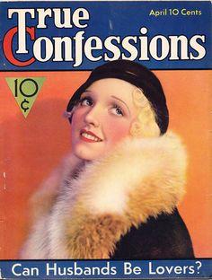 True Confessions Magazine, April 1933, Vol. 22 No. 129 vintage Depression era, Etsy.