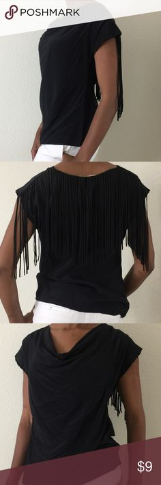 hanging fringe back top A great unique top to wear tucked into a skirt or hanging with jeans or shorts corey lynn calter Tops
