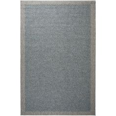 Alise Rugs Seros Modern Light Blue Area Rug (5' x 7'3) (Polypropylene, Solid)