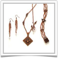 "One-of-a-Kind ""Honey"" Jewelry Set - Designed by Belle Bijou:  http://www.bellebijoujewelry.com/store/detail/index.html#cid=48950"