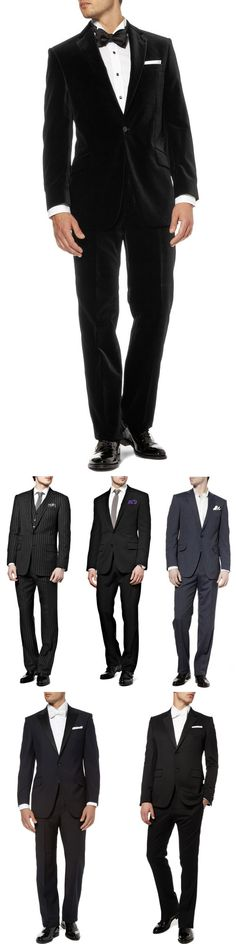 Designer men's wear and wedding suits, tuxedos and accessories from Mr. Porter, Net-a-Porter.com's men's store via JunebugWeddings.com.