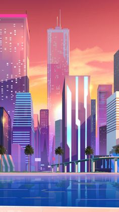 Digital art, moonbeam, buildings, city, 720x1280 wallpaper