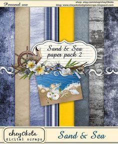 Sand & Sea Paper Set 2 - Digital Scrapbooking