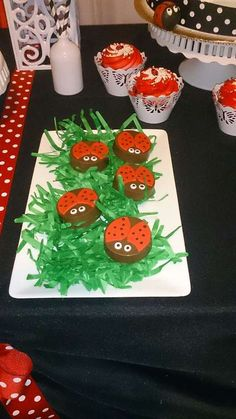 Fun treats at a ladybug birthday party! See more party ideas at CatchMyParty.com!