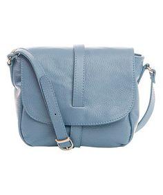 Glicine Fold-Over Leather Crossbody Bag #zulily #zulilyfinds