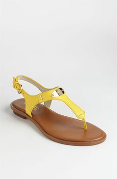MICHAEL Michael Kors 'Plate' Thong Sandal available at #Nordstrom