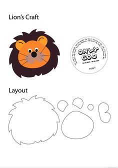 MATERIAL: Different Color of Eva Form - Brown, Orange, Black, Yellow (Eva form may replace with paper/card for cost saving purposes) Eyes (movable) - may purchase at An Yang or any craft shop.Lion Pin, Pennant of Power (strong courageous) maybe use t Foam Crafts, Paper Crafts, Lion Craft, Sunday School Crafts, Felt Patterns, Bible Crafts, Marianne Design, Felt Diy, Stuffed Animal Patterns