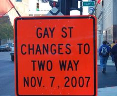 Gay St changes, huh?