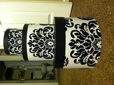 damask hat boxes for DIY card holder