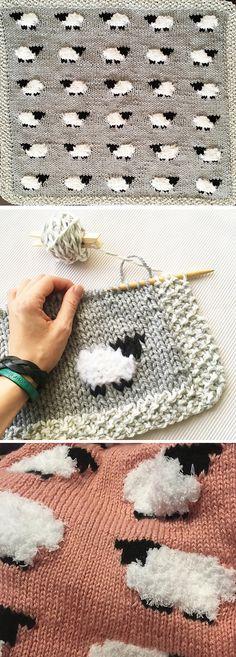 Animal Knitting Patterns, Knitting Charts, Knit Patterns, Free Knitting, Free Christmas Knitting Patterns, Baby Blanket Knitting Patterns, Knitted Mittens Pattern, Knitting For Kids, Knitting Projects
