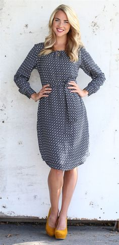 Chloe Navy Modest Dress by Mikarose | Trendy Modest Dresses | Mikarose Spring 2014 Collection