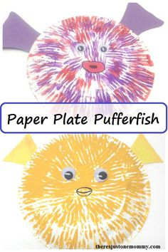 Ocean Themed sea Animal Craft: paper plate pufferfish This cute paper plate pufferfish craft is a fun kids craft for summer. Toddlers and preschoolers, as well as older kids, will enjoy making this sea animal craft. Kids Crafts, Toddler Crafts, Preschool Crafts, Projects For Kids, Art Projects, Art Crafts, Daycare Crafts, Summer Crafts, Paper Plate Fish