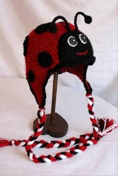 Ladybug crochet hat crochet