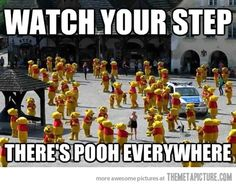 Watch your step - there's Pooh everywhere!