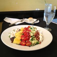 Cobb Salad with lump crab meat at Vic's on the River #Savannah