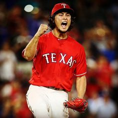 Yu-San reacts to getting out of a jam in the 7th! #RangersVsAthletics #Darvish (Photo  Official @kellyspics3 IG)