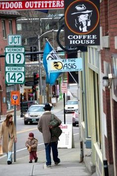 Brattleboro's Main Street offers a lively mix of art galleries and offbeat stores.