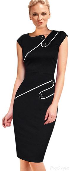 Vintage Pencil Sheath Dress