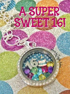 Celebrate Sweet 16 with an Origami Owl Living Locket!  Shop http://rouce.origamiowl.com/ and visit my Facebook page facebook.com/locketsloveandhappiness for more locket inspiration!