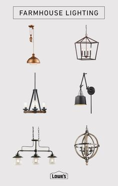 For the latest in Farmhouse Lighting visit lowes.com. A dramatic chandelier or a trio of modern pendants can make a statement.