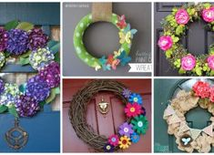 18 Delightful Spring Wreath Designs That You Are Going To Love Balloon Decorations, Christmas Decorations, Grapevine Wreath, Balloons, Wreaths, Canning, Spring, Creative, Origami