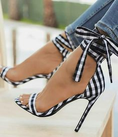 LALA IKAI Scottish Plaid High Sandals Women Cross-Attached Heels Ladies Ankle Strap Lace Up Party Bow High Shoes (China) Source by cokethimode High Sandals, High Shoes, Ankle Strap Sandals, Summer Sandals, Heeled Sandals, Sandals Outfit, Strappy Shoes, Shoes Sandals, Heels Outfits