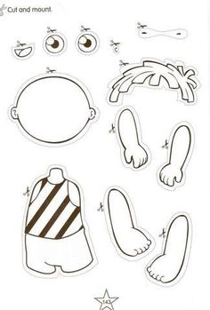 Parts of the Body Activities. | Aprender e Brincar
