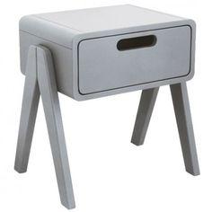 Laurette Little Robot bedside table - light grey `One size Hand painted, finish in semi matt lacquer * Fabrics : Beech Wood * Composition : Watercolour paints * Color : Light grey * Width : 45 cm, Depth : 34 cm, Height : 47 cm. * Weight : 9.5 kg * Details : 1 http://www.MightGet.com/january-2017-13/laurette-little-robot-bedside-table--light-grey-one-size.asp